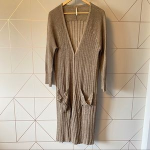Free People Ribbed Sweater Duster Cardigan